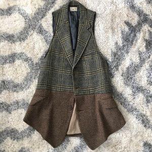 Vintage tweed vest size small